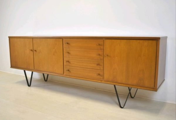 Danish Design Credenza : V leg sideboard behr möbel mid century danish er u stilelite