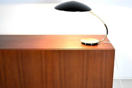 Schreibtischlampe mit Messingfuß Vintage Mid Century 60er