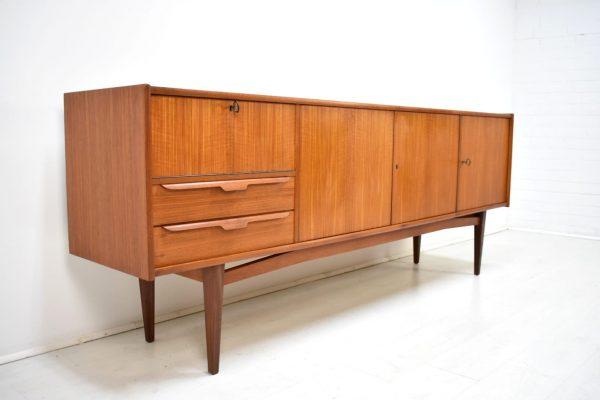Sideboard 60er Teak Danish Vintage Mid Century Kommode Credenza