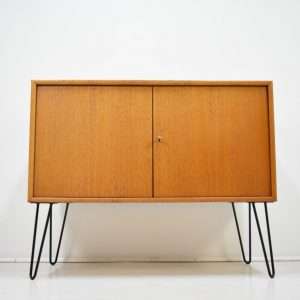 Kommode Sideboard Hairpin WK Teak Danish Design 60er Hairpin
